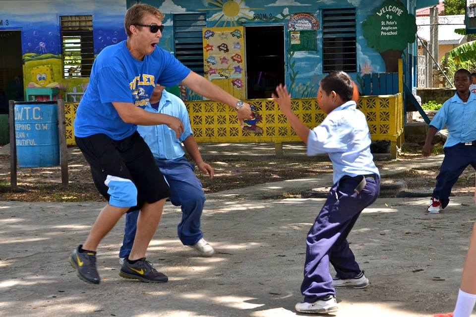 PV business teacher Mr. Matt Schulien plays basketball (or dances?) with a schoolboy in Belize. Schulien is known for traveling the world in his own unique way. Click on any of the buttons on the map below to see a picture from Schulien's excursions in that area.