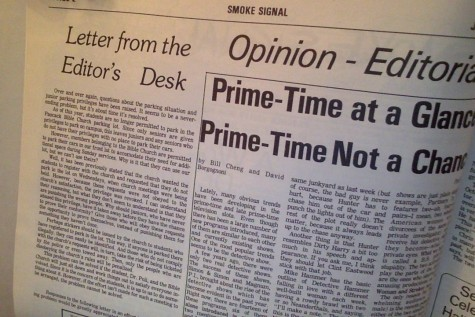 Throwback Thursday: Letter from the Editor's desk