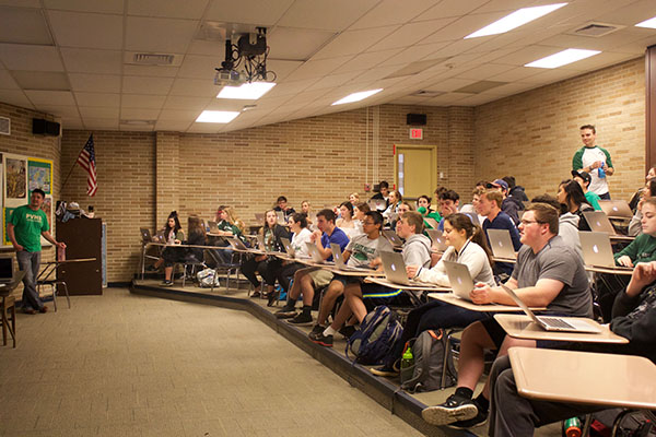 PV juniors attend a double-period American Studies class.