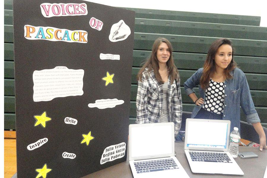 Sophomores Regina Guzzo, left, and Julia Veloso are running a Pascack Period offering called