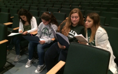 Members of PV Theatre read through their parts from