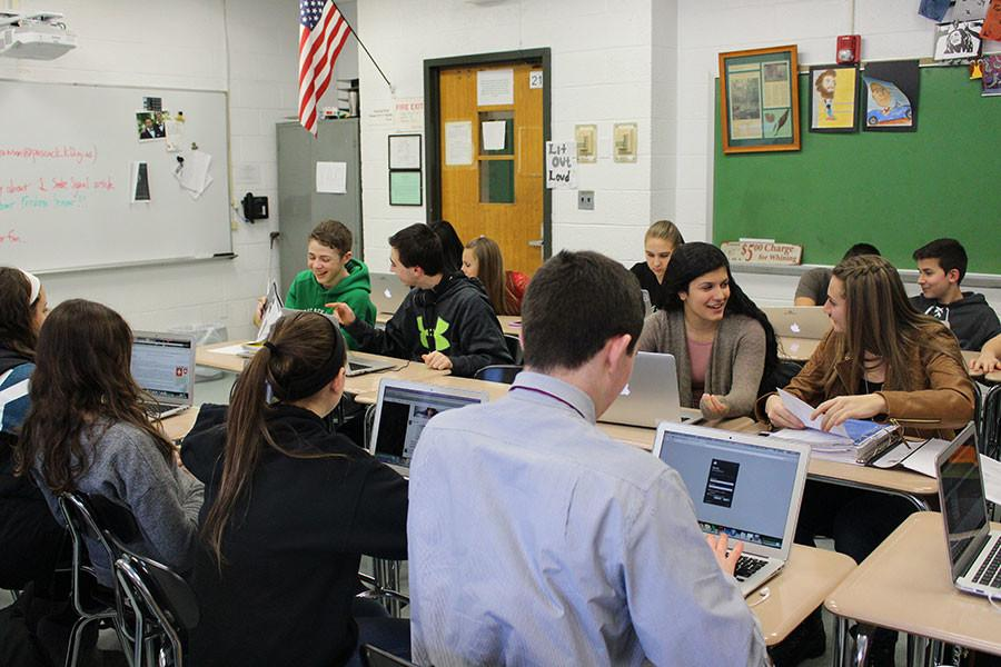 During the second half of the year, Freshmen Seminar sessions, like this one pictured, will be limited to half of the 88-minute Pascack Period.