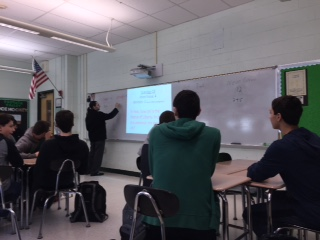 Mr. DelSanto teaches his Pascack Period class.