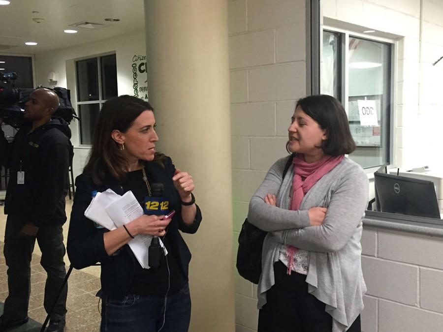 Another interview conducted by News 12 in the lobby of Pascack Valley High School