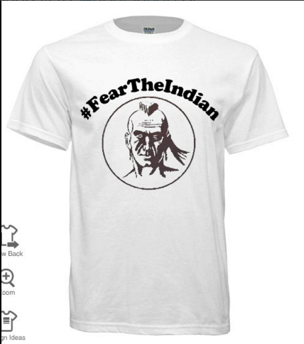 This picture was displayed in an email to the school advertising the sale of the shirts as well as published on Twitter by the PV Sports (@feartheindian) account. Several members of the PV community thought that the Indian head logo appearing on this shirt was being phased out by the administration and were surprised to see the image reemerge.