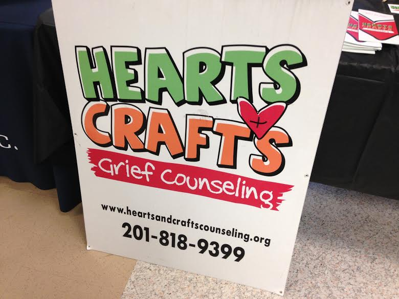 The Hearts and Crafts Grief Counseling information at this fair.