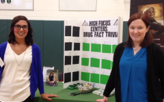 Two representatives from High Focus Centers, a provider of group therapy for substance abuse and psychiatric, teach PV students at the Wellness Fair.