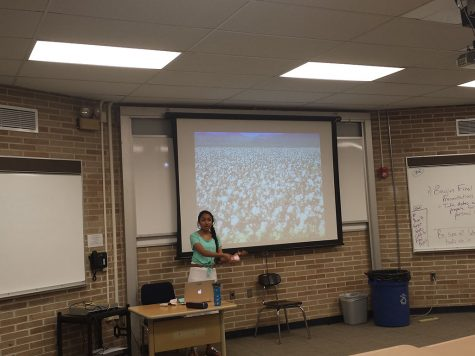 PV sophomore educates school on Indian farmer suicide crisis