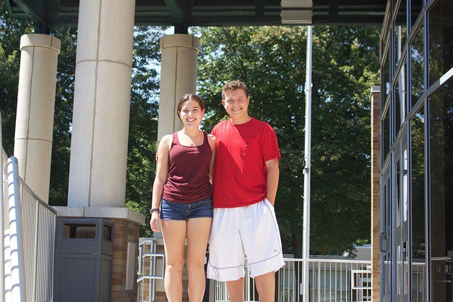 Smoke Signal Managing Editor Lauren Cohen (left) and Editor in Chief Kyle Comito (right).