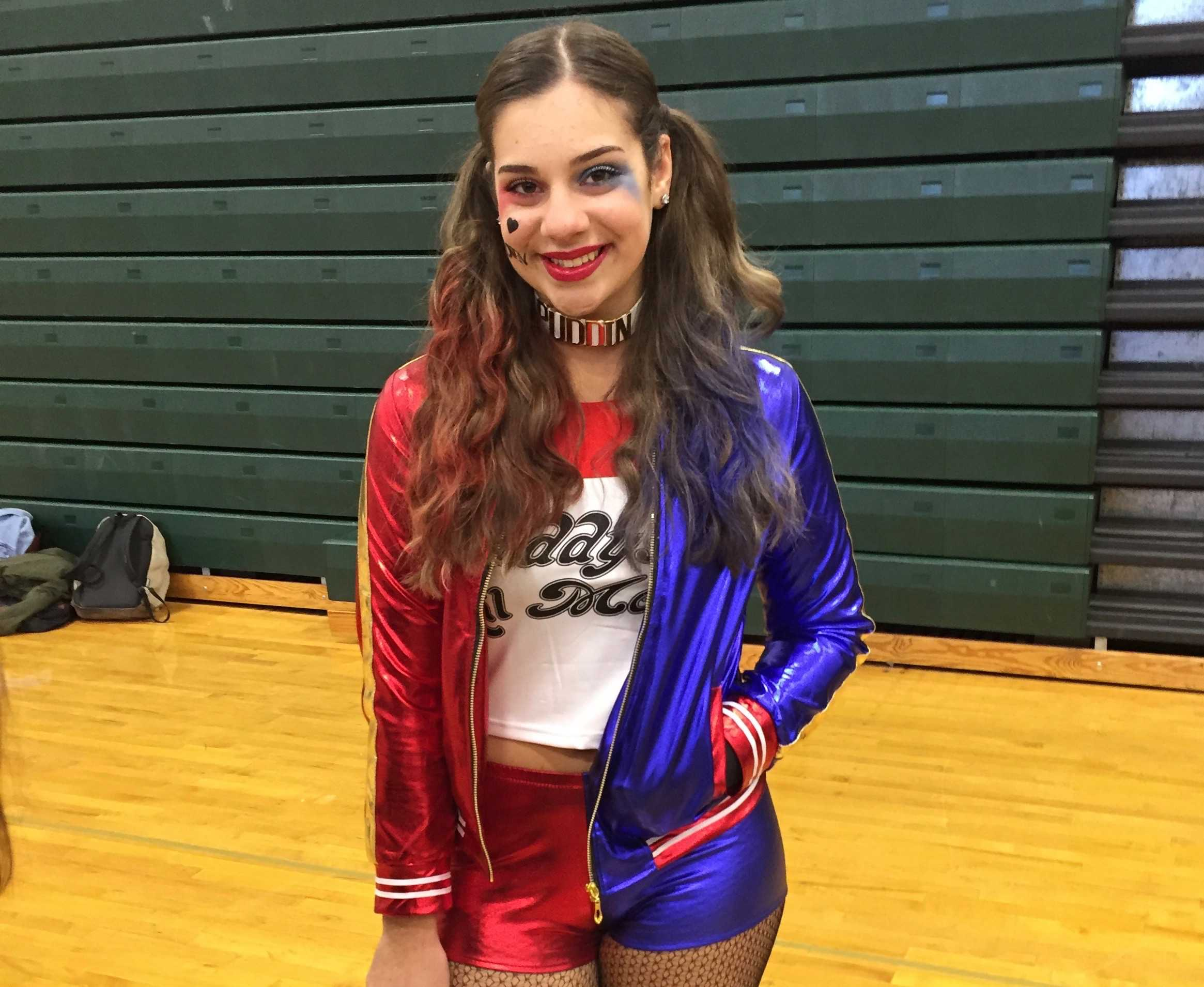 Pascack Valley Senior Jaime Minervini, like thousands of other girls across the country, dressed up as Harley Quinn for Halloween.