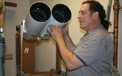 One of PV custodian Lance Pearlman's many unique hobbies is building telescopes.  Pearlman is retiring, and today is his last day on the job.