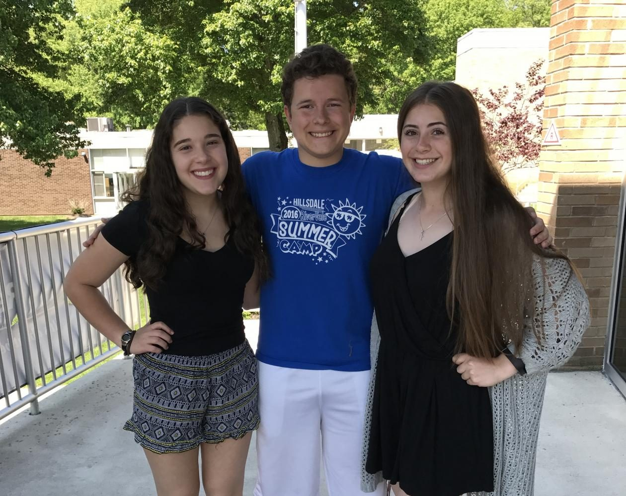 Pictured above (from left): Lauren Cohen, Kyle Comito, and Madison Gallo. The Smoke Signal will transition from Comito as Editor in Chief to Cohen and Gallo both at the helm for the 2017-2018 school year.
