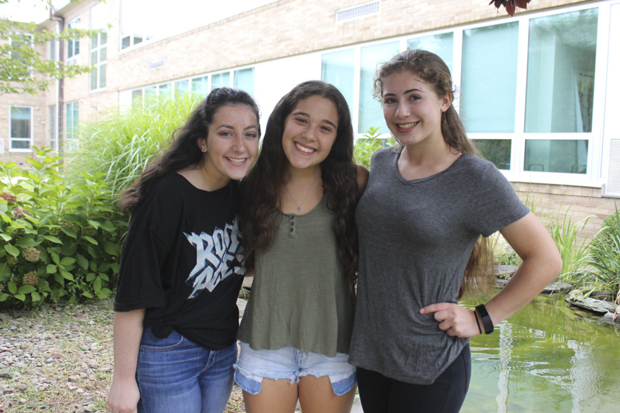 From left: Smoke Signal Managing Editor Kayla Barry, Editor in Chief Lauren Cohen, and Editor in Chief Madison Gallo.