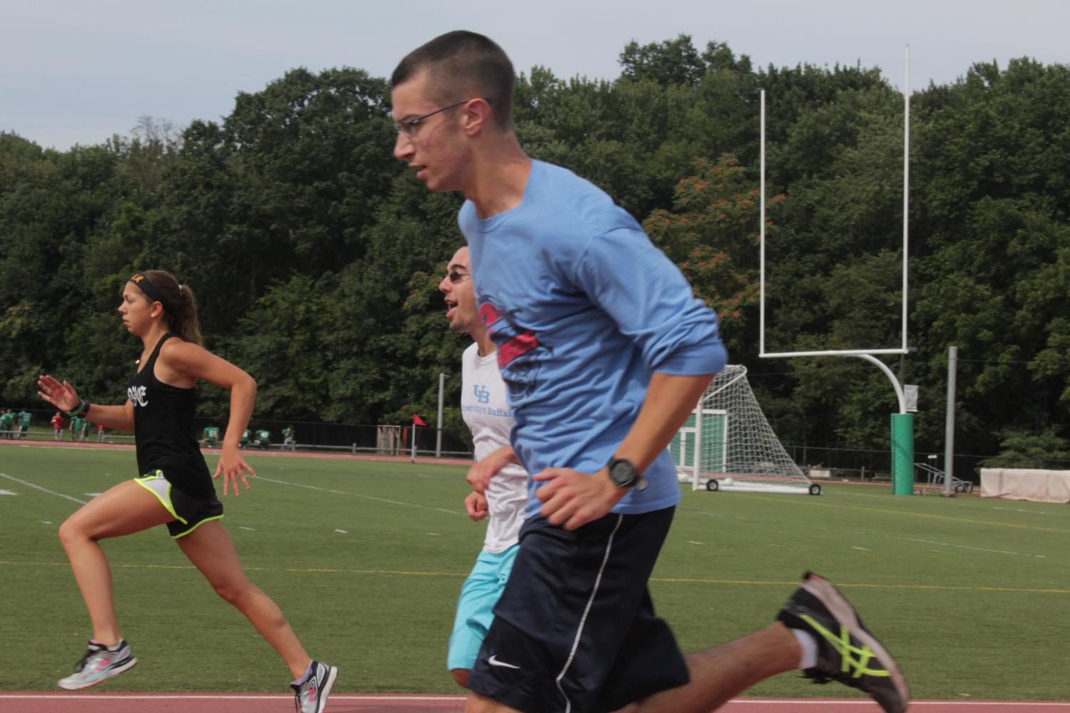 Sean Donohue runs at a recent practice. PV cross country opened their season on Saturday at Darlington County Park.