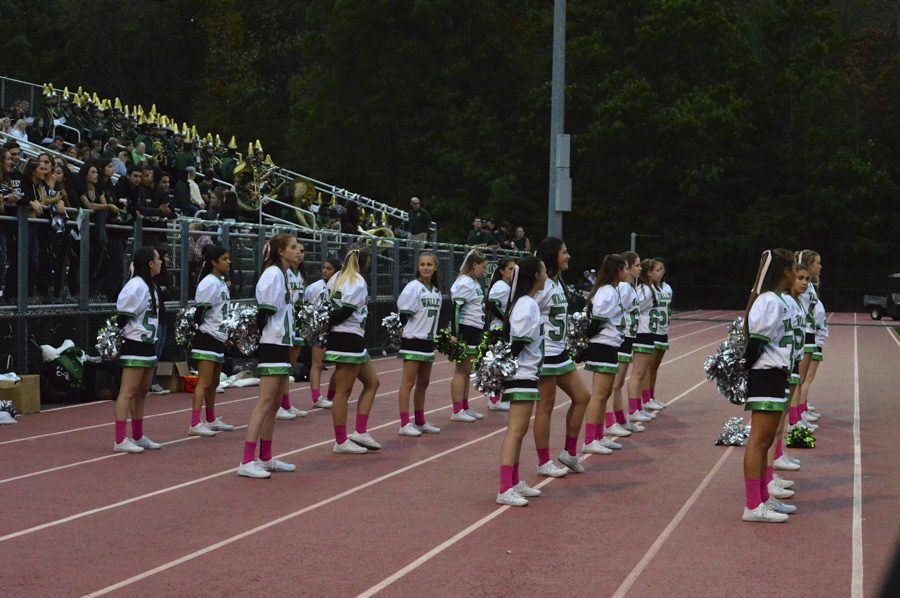 PV+cheerleaders+watch+the+game+from+the+sidelines.+