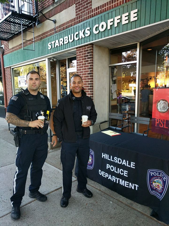 Officers Travis Woods and German Decena are among the group of cops that participated in the event.