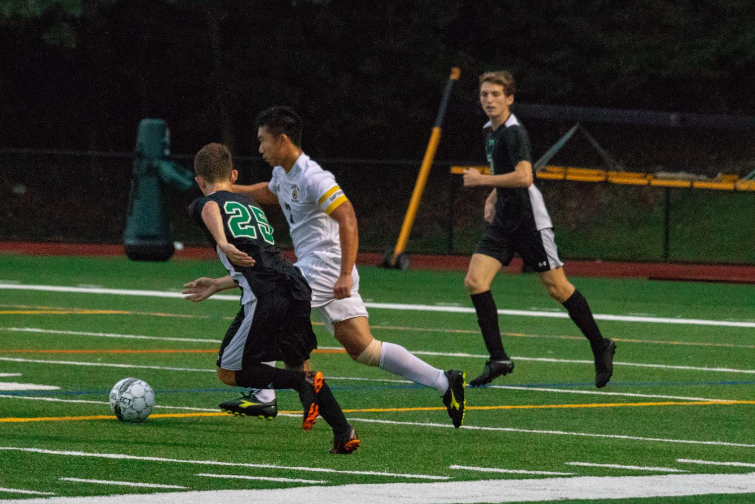 Luke Palamidis and Brayden Schwartz on the field for PV during a game from this season. They both will return next season to play under coach Roy Nygren.