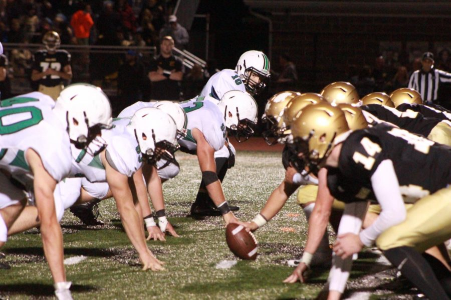 The Pascack Valley defense lines up against River Dell in Week 6. The Indians will once again travel to Oradell on Friday to take on River Dell in the first round of the playoffs.
