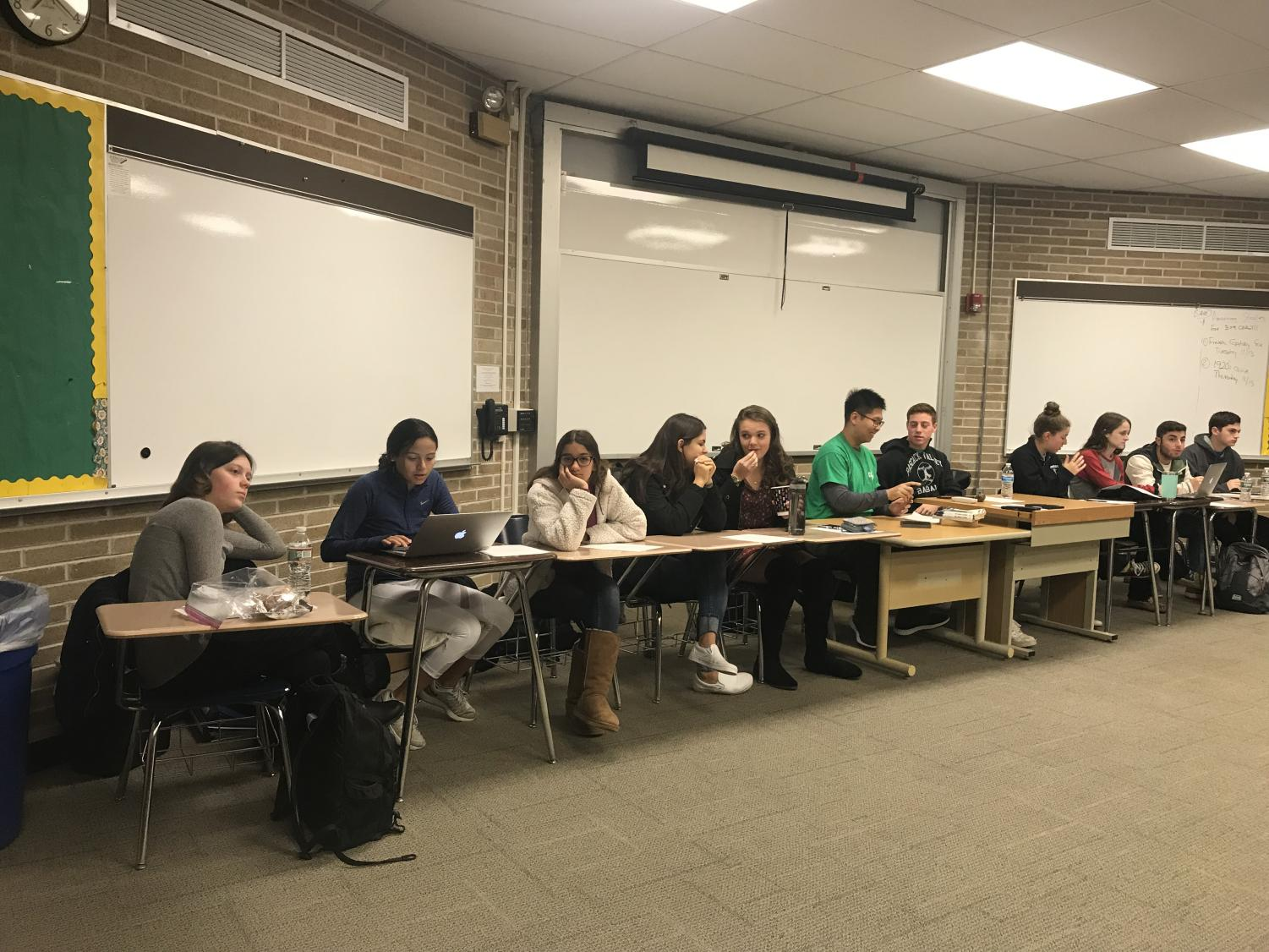 PV Student Council members held a meeting for students and faculty to discuss what actions can be taken against anti-Semitism in the school.