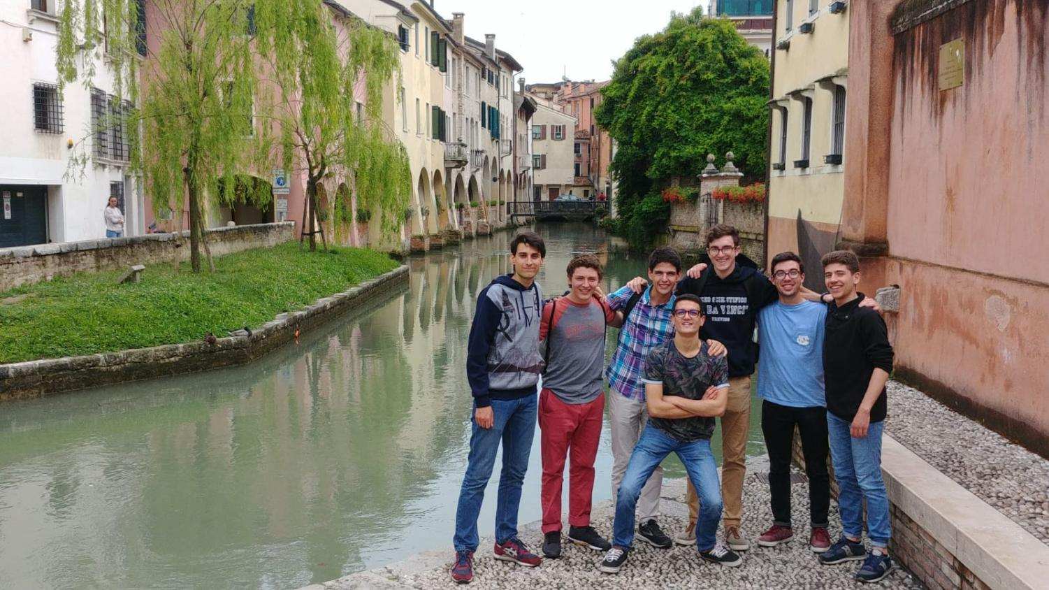 "The 2018 seniors on their Italian exchange trip in Treviso, Italy, where Mike Hayden's exchange student lives. PV Italian teacher Barbara Borghi believes that this experience for Hayden ""ignited a new passion for the language."""