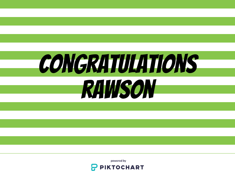 Thank you, Rawson