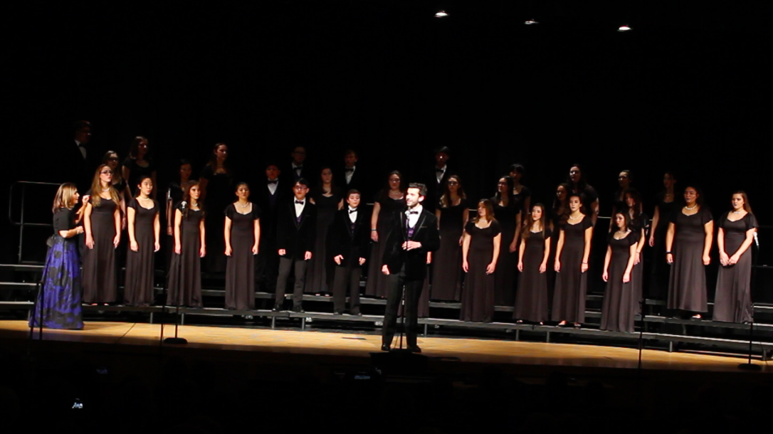 Liam Sandt sings a solo while performing with the Chamber Choir.