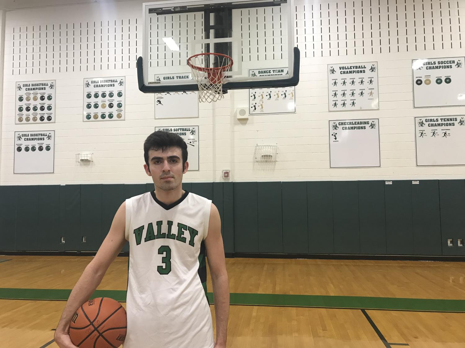 PV Senior Max Yellin after a recent game against Indian Hills. Yellin is averaging 20.6 points per game this season.