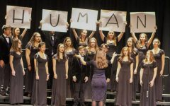 The Pascack Valley Choir performs during the PVRHSD's Unity in the Valley event. Unity in the Valley was held in the PV auditorium on Tuesday, March 19.