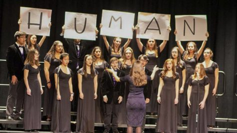 The Pascack Valley Choir performs during the PVRHSD