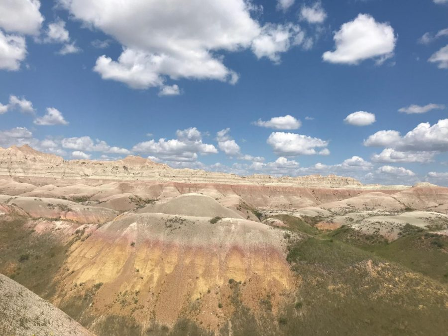 A+view+of+the+Badlands+National+Park+in+South+Dakota.