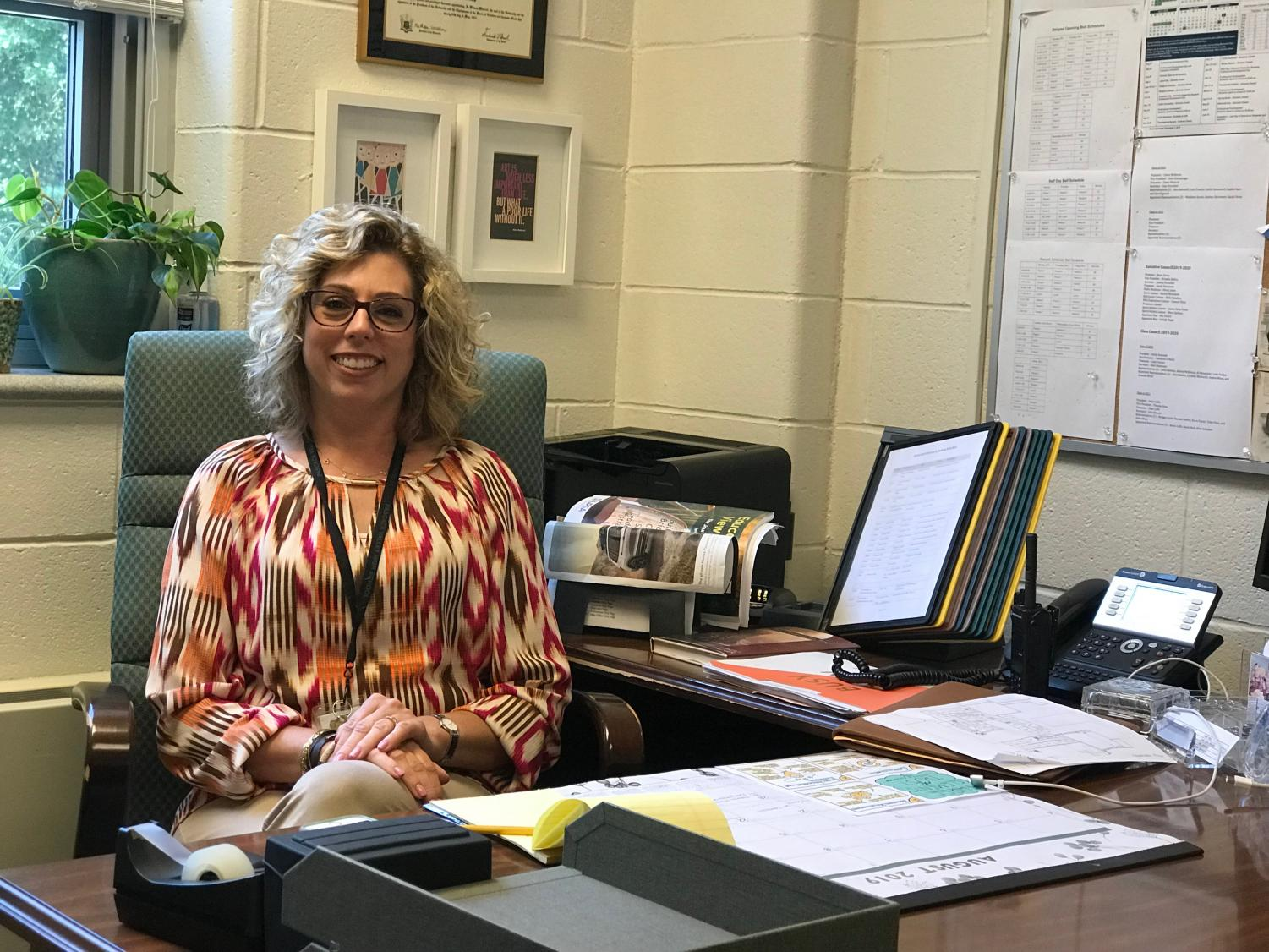 Christine Pollinger is the new assistant principal for the 2019-2020 school year. She originally was the program coordinator at Park Academy in River Vale.