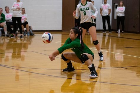 PV volleyball participates in Dig Pink Tournament
