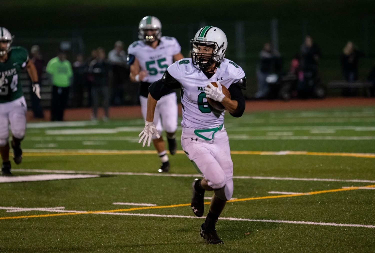 Andrew Martinez runs the ball upfield in Valley's Oct. 25 matchup against Ramapo. The Raiders would go on to beat the Indians 42-14 in Valley's regular season finale.