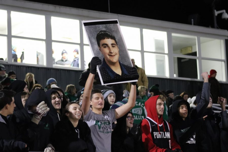 The+PV+students+show+their+support+for+Pascack+Valley+football
