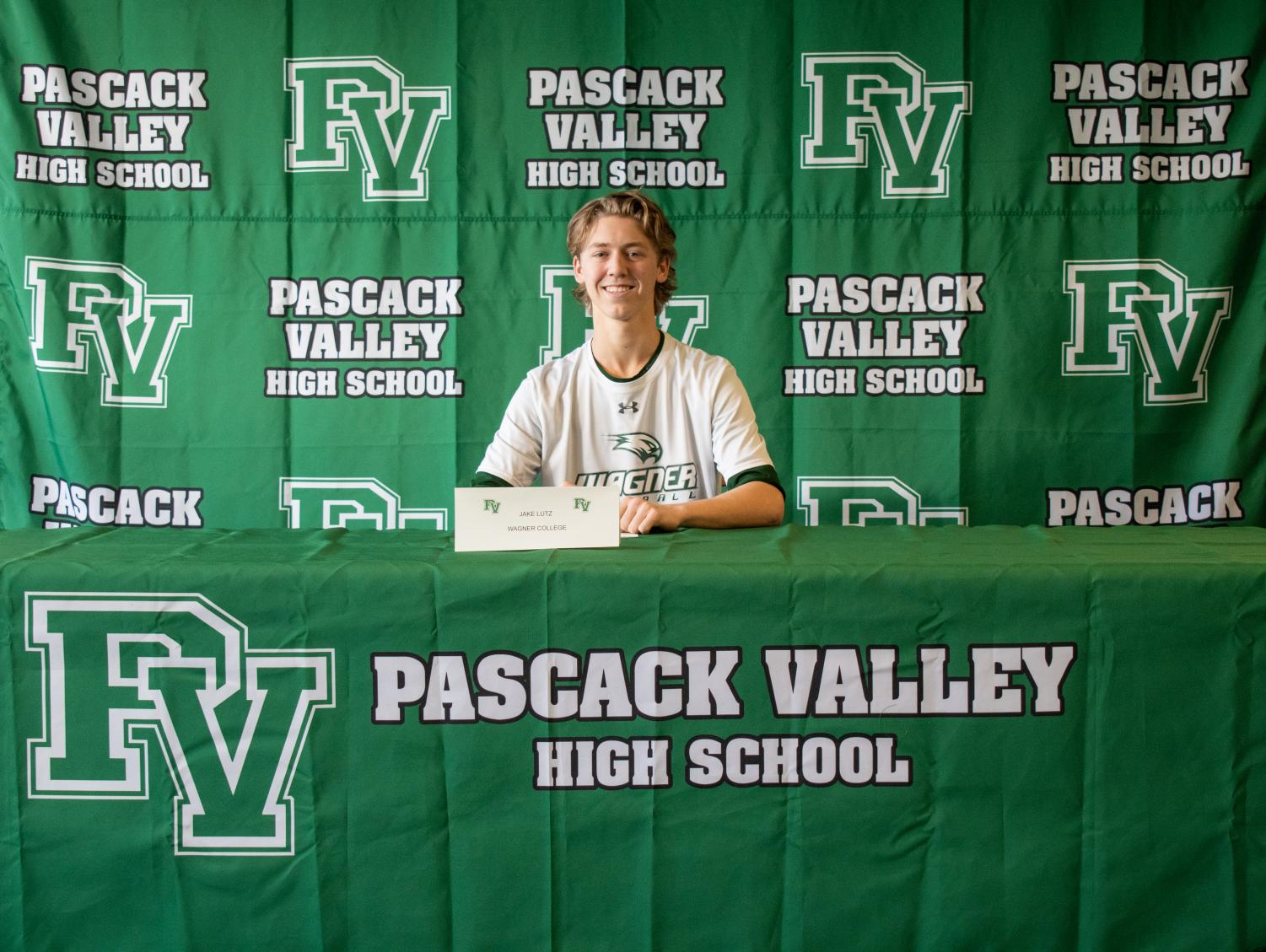 Jake Lutz signs to Wagner University to play Division I baseball.