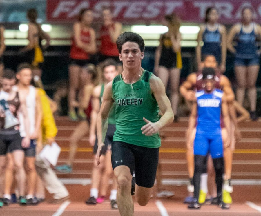 Oren+Roznitsky+runs+at+the+Armory+Track+in+NYC.++PV%27s+Sprint+Medley+Relay+qualified+for+nationals+before+the+event+was+cancelled+due+to+coronavirus+concerns.