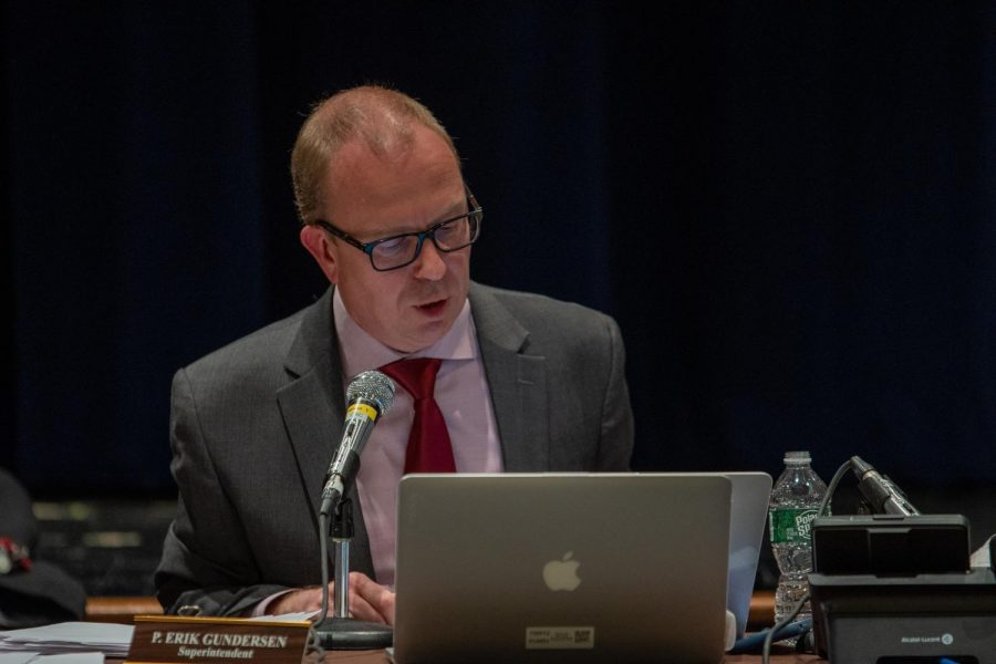 """District Superintendent Erik Gundersen said he was """"very disappointed"""" that Pascack Valley's principal search did not turn out as he expected. Brian Hutchinson, the Emerson Junior-Senior High School principal, asked the Board of Education to rescind his appointment days after the community expressed support for Interim Principal John Puccio to take on the permanent position."""