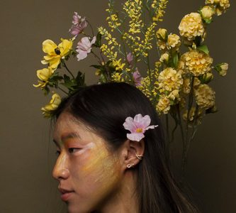 This portrait was inspired by the first day of spring on Friday, March 21. Smoke Signal photographer Evie Higgins took a portrait of freshman Ava Kim during the week before classes were moved online.