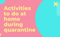 Activities to do at home during quarantine