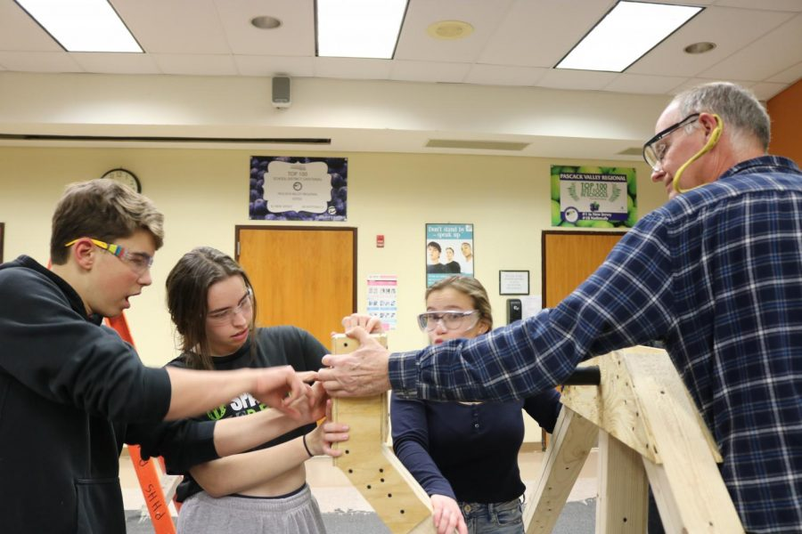Hannah Epstein, Pascack Valley's CEO of the robotic team, leads the carpentry subdivision. Epstein, who is a senior, could have already finished her last year on the team after its first competition was cancelled and the season may not continue due to the coronavirus.