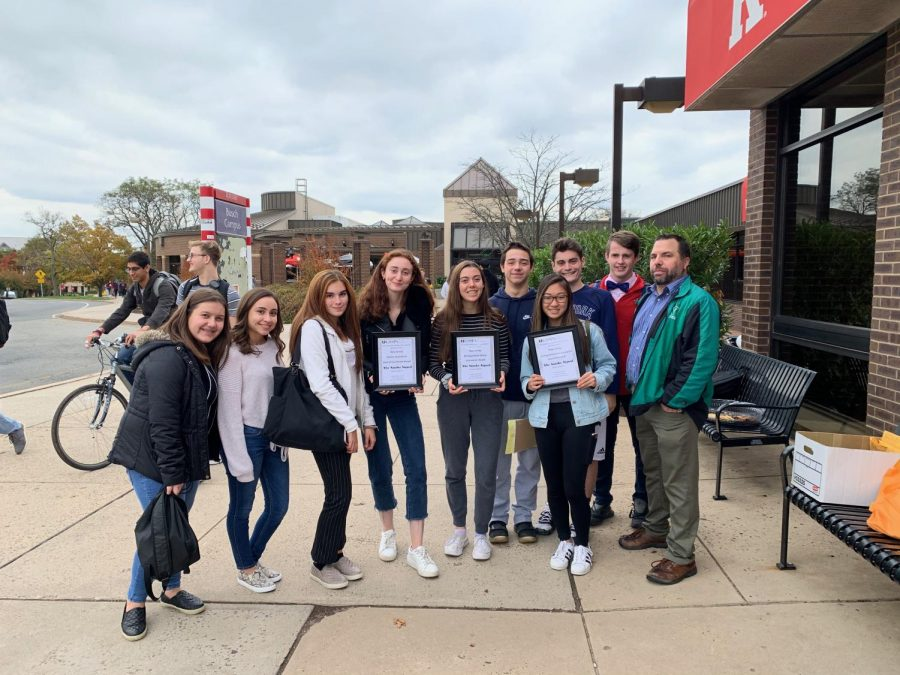 Members of the PV Student Publication 2019-2020 Editorial Board at last year's Garden State Scholastic Press Association conference. The publication won 52 awards, including 24 honorable mentions in the GSSPA annual award contest for last school year.