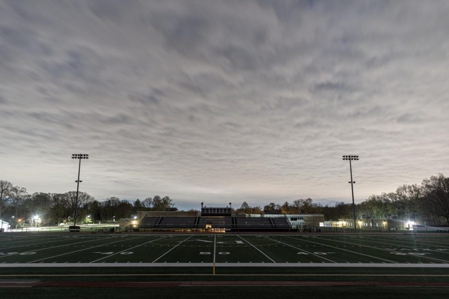 The+football+field+lights+up+at+8%3A20+p.m.+every+Friday.+The+lights+of+the+football+fields+at+both+Pascack+Valley+and+Pascack+Hills+turn+on+to+honor+the+Class+of+2020.