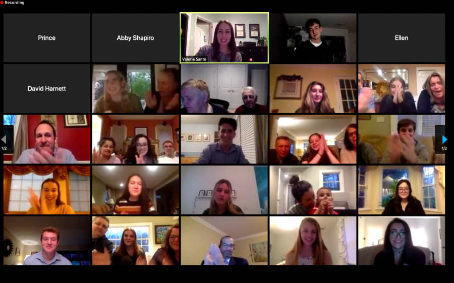 A virtual induction ceremony was held on Zoom for seniors accepted into the National Honor Society. The new members were inducted on Friday, May 1.