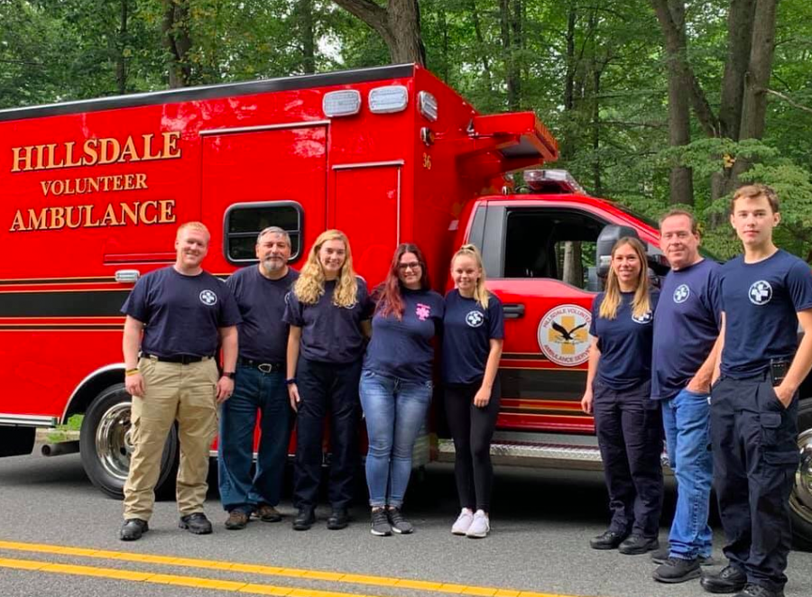 While many EMT volunteers are choosing to stay home, senior Sarah Viceconte continues to volunteer during the coronavirus pandemic. She volunteers for a 12-hour shift once a week and a 24-hour shift once a month for the Hillsdale Volunteer Ambulance Service.