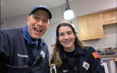 Assistant District Superintendent Barry Bachenheimer and his daughter, Lea Bachenheimer, continue to volunteer with the South Orange Rescue Squad during the coronavirus pandemic. While Lea's shift lasts Sunday evenings from 6 p.m. to 10 p.m, Bachenheimer is on duty from 6 p.m. Sunday night to 5 a.m.