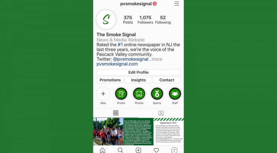 The Smoke Signal Instagram has limited comments on its recent posts following requests from the district. A post announcing the Board of Education's decision to remove the Pascack Valley and Pascack Hills mascots received over 1,800 comments.