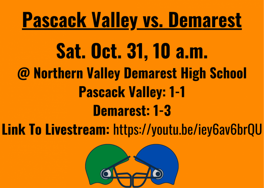 Pascack Valley football resumes play Saturday morning on the road against Demarest.