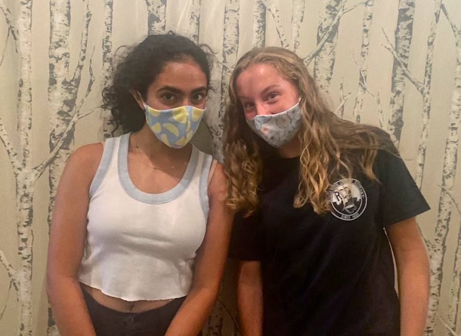 Sophomores Cameron Dolan and Layla Dhawan created an Instagram mask business, called Elizabeth Rose Masks, in August.