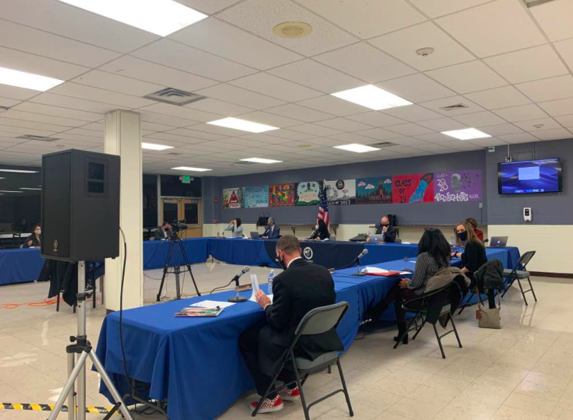The Board of Education held an in-person meeting on Monday night at PV. It discussed a wide range of topics, including the state of each school's mascot.