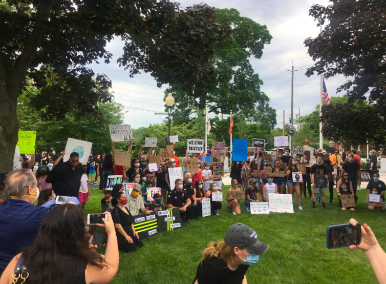 The Pascack Valley Coalition of Rights and Equity, also known as PV CORE,  is a community organization that aims to celebrate diversity within Hillsdale, River Vale, Montvale, Park Ridge, Woodcliff Lake, Washington Township, and Emerson. Above is a picture of PV CORE members at a vigil they held over the summer.